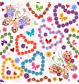 white seamless floral valentine pattern vector image