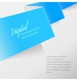 Color folded paper vector image vector image
