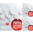 Merry Christmas background discount percent vector image vector image