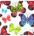 Spring grunge seamless white pattern vector image