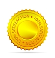 golded satisfaction tag vector image vector image