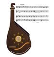 Ukrainian musical instrument vector image vector image