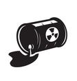 black radioactive waste icon vector image