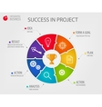 circle business concepts with icons vector image