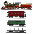 classic american wild west steam train vector image