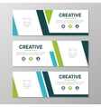 Green and blue corporate business banner template vector image