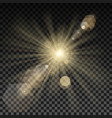 lighting spark on transparent background vector image