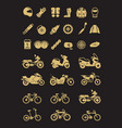 racing motorcycle bicycle motorbike parts and vector image
