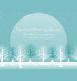 seamless snowy landscape vector image