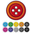 Set of sewing buttons vector image