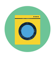 washing machine flat icon vector image