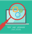 testing system icon vector image