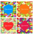Elegant colorful paper banners vector image