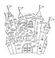 outlined castle vector image vector image