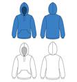 unisex hoodie vector image