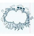 desert doodle frame vector image vector image