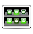 New green app icons vector image