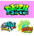 Brazil 2016 Games Rio summer vector image