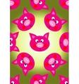 animal pig cartoon seamless pattern vector image