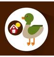 farm countryside animal duck design vector image