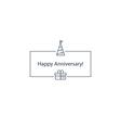 Happy anniversary celebration card vector image