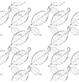 monochrome leaves background vector image