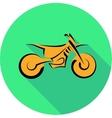 Motorbike symbol vector image