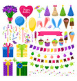 party colorful icons set vector image