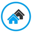 Realty Circled Icon vector image
