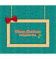 Retro wooden Christmas banner vector image