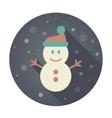 Snowman flat icon vector image