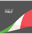 stylish flag of italy against a dark background vector image