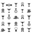 trophy and award simple black icons vector image
