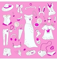 Women related fashion items vector image