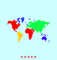 world map set it is color icon vector image