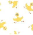 Yellow chicken pattern vector image