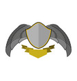 shield and wings logo heraldic emblem antique vector image