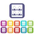 Sushi icons set flat vector image