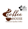 Coffee retro emblem vector image vector image