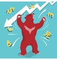 Bear market downtrend stock market vector image
