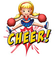 Cheer flash logo vector image