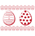 Easter set Eggs with a pattern and a border vector image