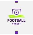 logo template street football soccer Ball vector image