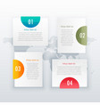 modern four steps white infograph layout design vector image