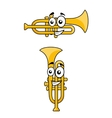 Two variations of a cartoon trumpet vector image