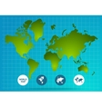 World Map Page Of Website vector image