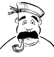 Sailor with tobacco pipe vector image