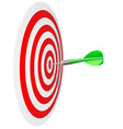 Darts hit the bulls eye vector image