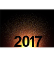 2017 New Year shining background vector image