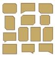 A set of wooden frames vector image